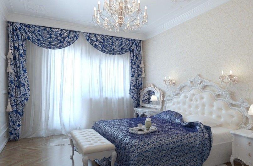Особенности современного дизайна штор в спальню.