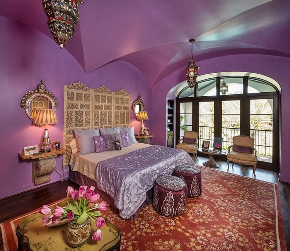 Освещение марокканской спальни.