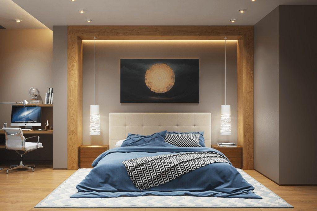 Освещение в спальне.