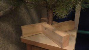 Подставка для елки своими руками из дерева.