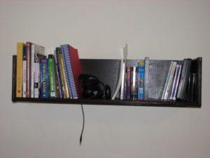 Полка для книг с одной секцией своими руками