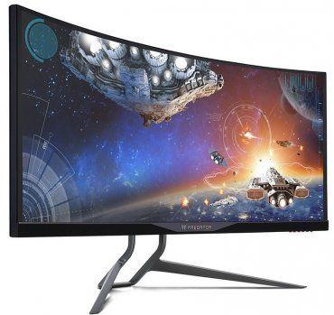 Телевизор с изогнутым экраном.
