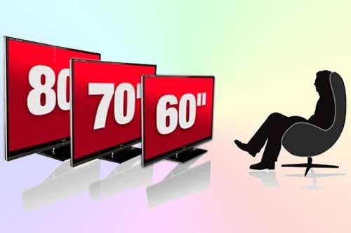 Расстояние смотреть телевизор