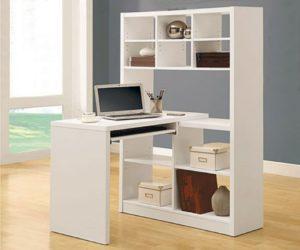 Размеры компьютерных столов со стеллажами