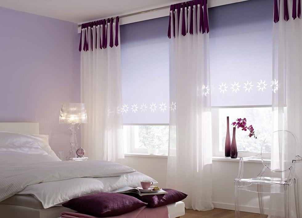 Римские шторы фото в интерьере спальни