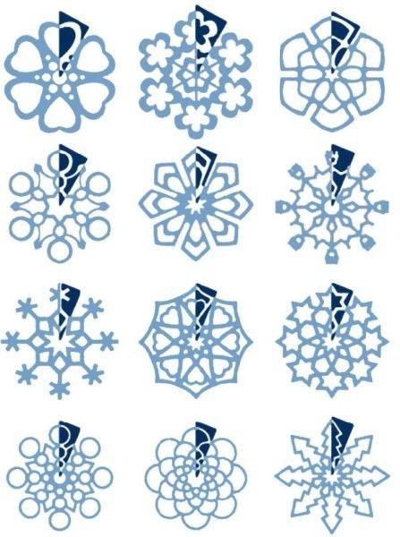 Схемы для снежинок из подложки под ламинат