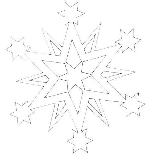 Ещё один вариант снежинки для изготовления из подложки.