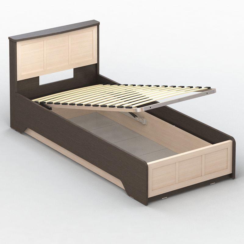 Собранная кровать с подъёмным механизмом
