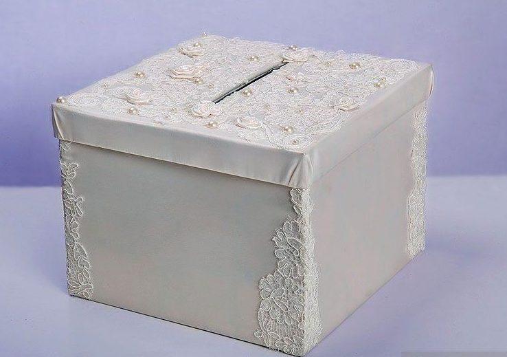 Сундук на свадьбу для денег из обувной коробки