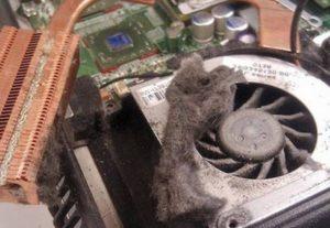 Пыль внутри телевизора