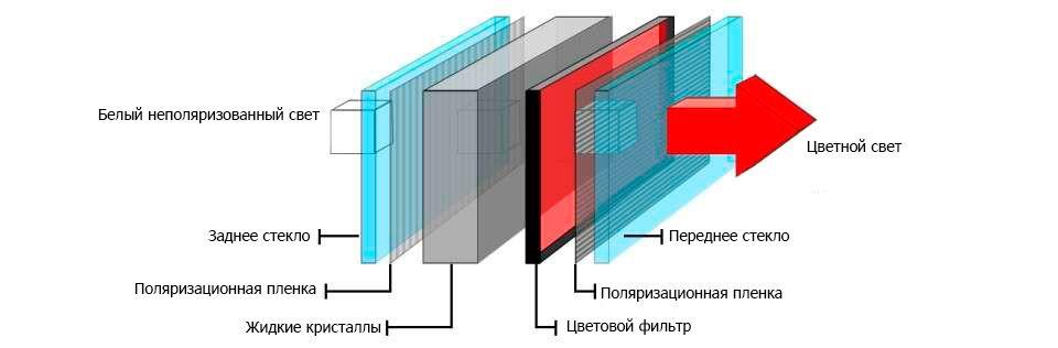 Устройство жк телевизора