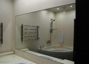 Варианты установки зеркала в ванной во весь рост