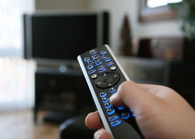 Включение телевизора.