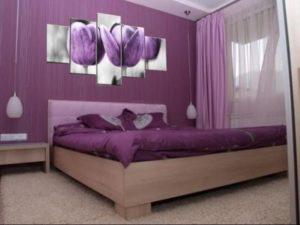 Выбор мебели в фиолетовую спальню