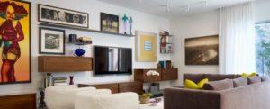 Высота установки ТВ в гостиной