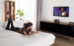 Высота установки ТВ в спальне