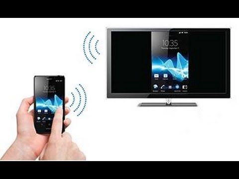 Вывод изображения со смартфона на экран телевизора.