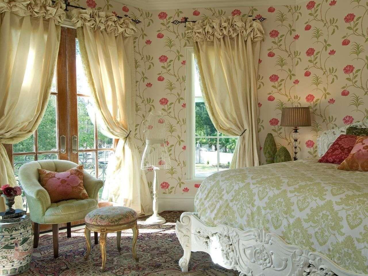 Занавески в спальню прованс.