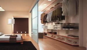 Зонирование гардеробной комнаты
