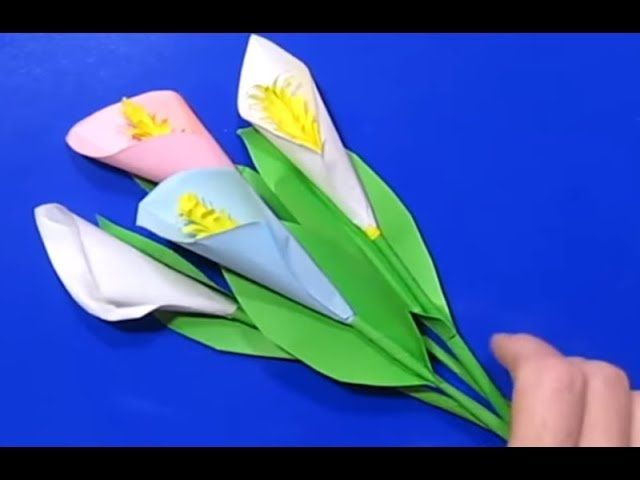 Цветы из бумаги на елку