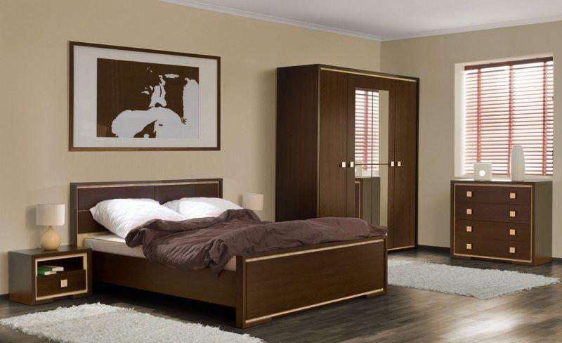 дизайн спальни с мебелью цвета венге фото