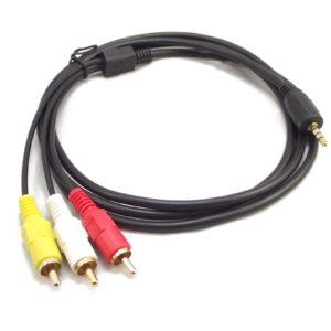 С помощью кабеля RCA