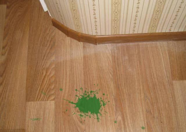 Оттереть краску с линолеума