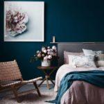минусы оформления спальни в синих тонах