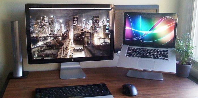 использование монитора и ноутбука