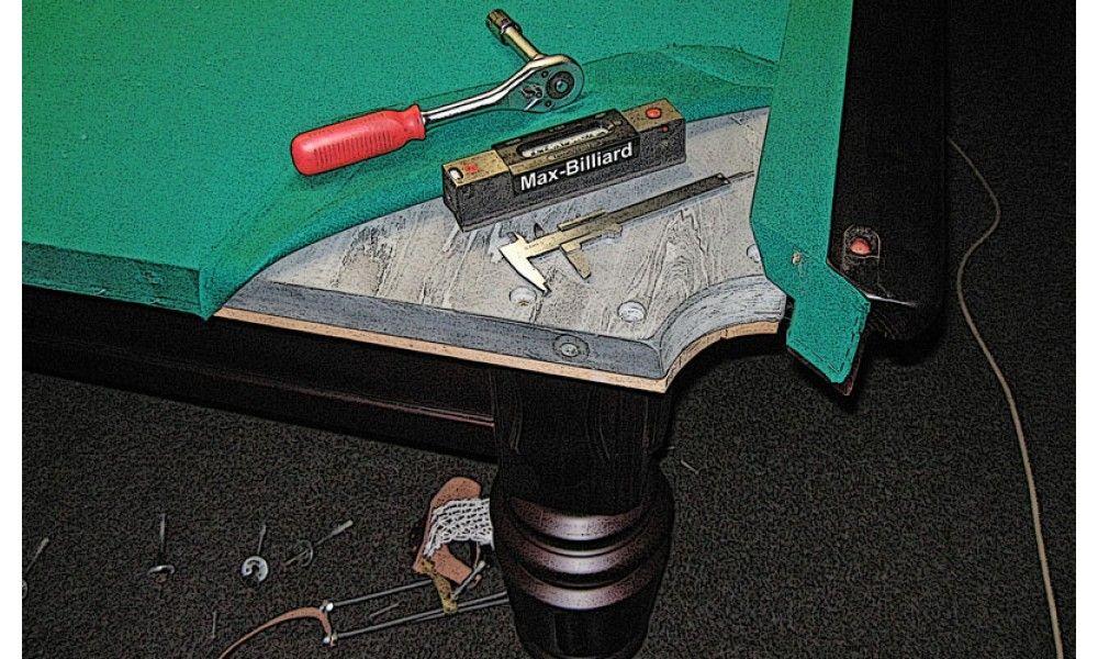 Перетяжка стола для бильярда