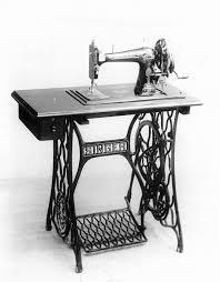 первая швейная машинка с ножным приводом