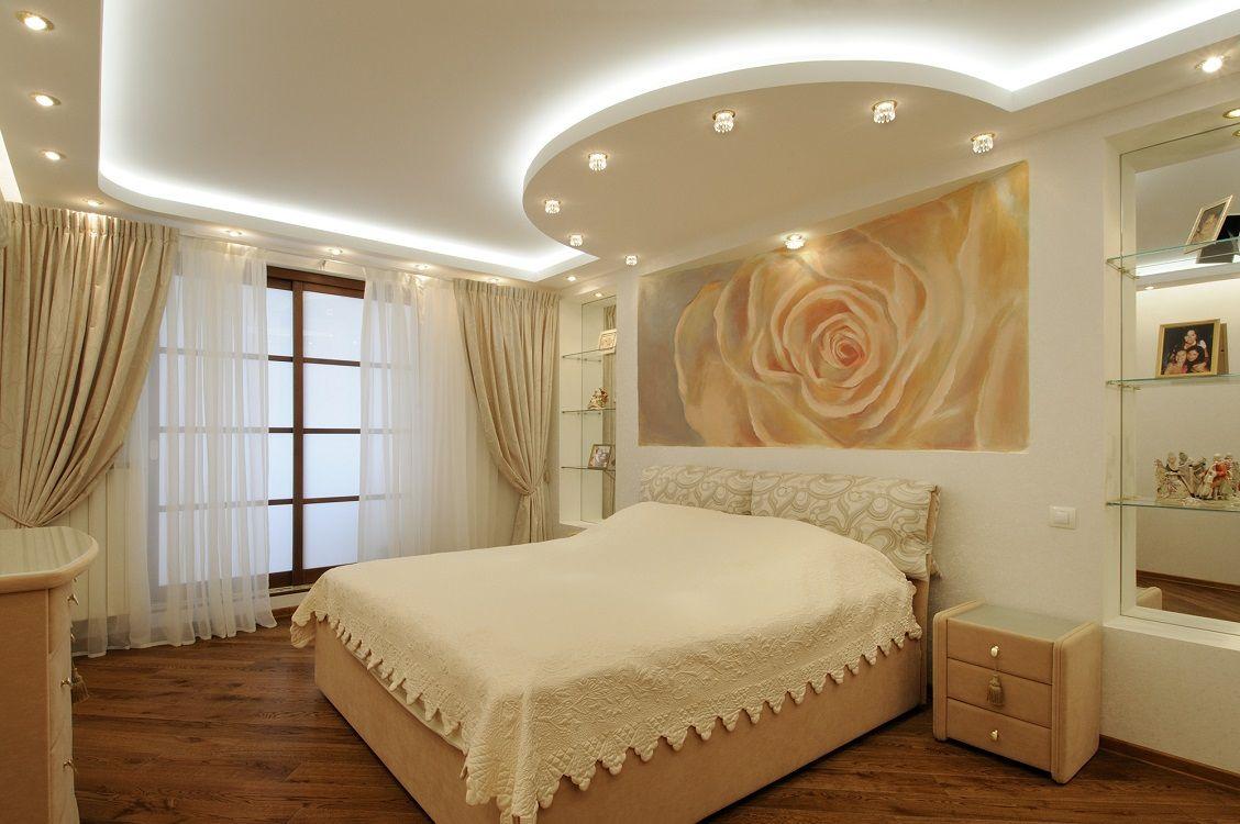 какой потолок лучше сделать в спальне