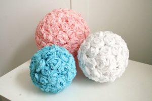шар из пенопластовых шариков