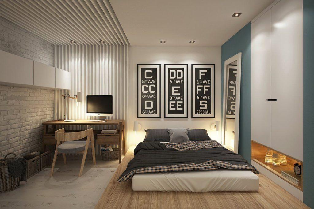 Спальня с кабинетом