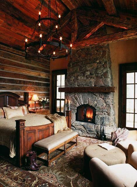 дом с каменным камином