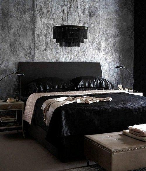 современная готическая спальня