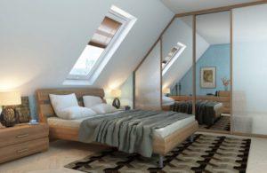 спальня на мансарде дизайн фото