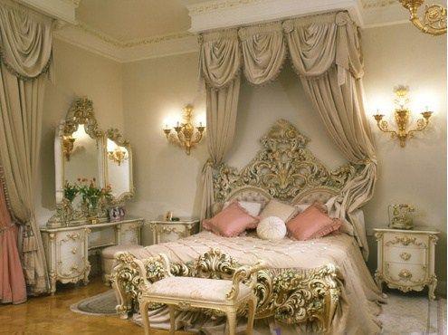 стиль барокко в спальне