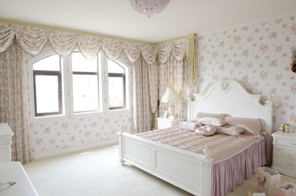 большая спальня в винтажном стиле