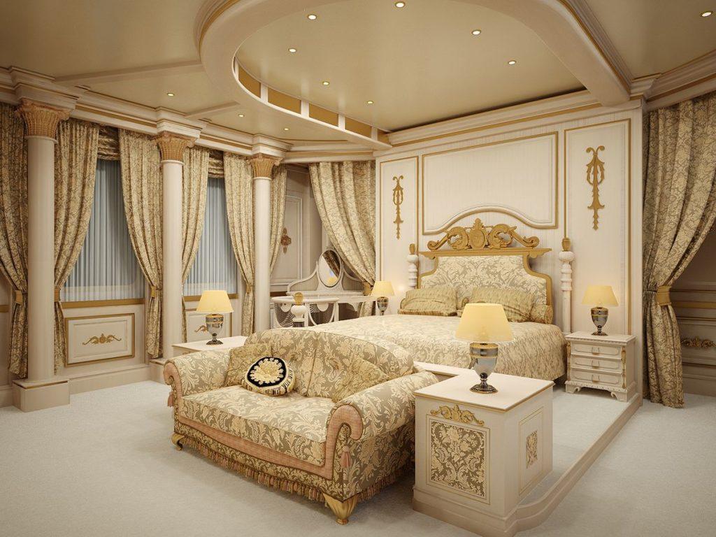 спальня в стиле винтажный шик
