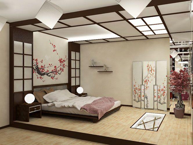 оттенки спальни