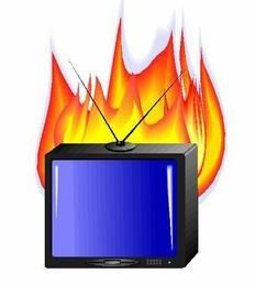 загорелся телевизор