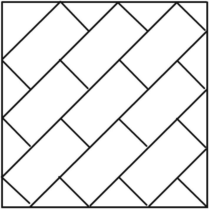 Вариант плитки для укладки по диагонали.