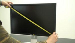 Ручное измерение диагонали.