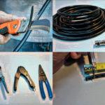 Как правильно зачистить антенный кабель для телевизора