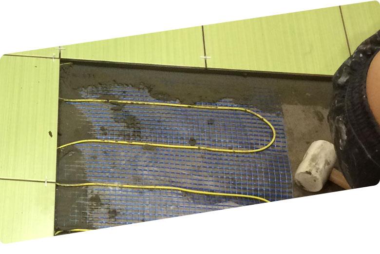 Ремонт тёплых полов под плиткой