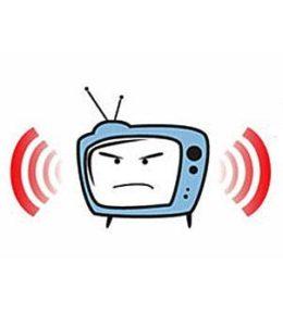 Телевизор пищит.