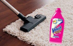 как чистить ковёр ванишем