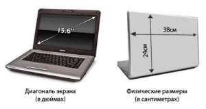 Диагональ монитора в см. и дюймах: таблица