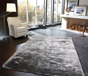 Серый ковёр в интерьере